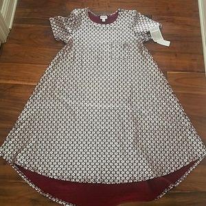 Deep Red / Silver Elegant Carly Dress sz S NEW